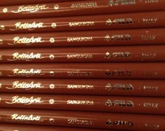 Charcoal, Sanguine and Hardmuth Pencils, 40 PCs lot