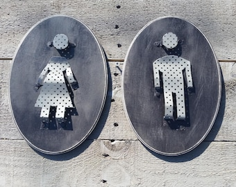 Mens And Womans Bathroom restroom sign