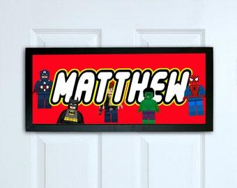 Kids Bedroom Door superhero door sign | etsy
