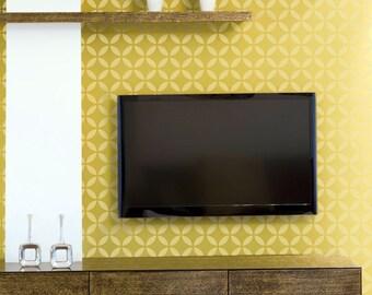 ELLIPSED CIRCLES All over Wallpaper Stencil / Reusable Stencil / DIY / Home Decor / Interiors / Feature Wall / Wallpaper alternative