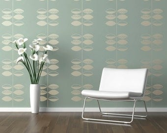 LEAF & STEM Allover Wallpaper Stencil / Reusable Stencil / DIY / Home Decor / Interiors / Feature Wall / Wallpaper alternative