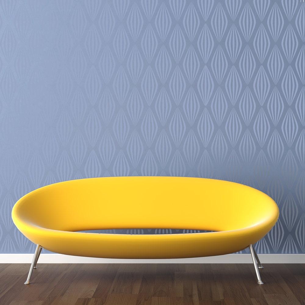 RETRO BALLOONS All over Wallpaper Stencil / Reusable Stencil / DIY ...