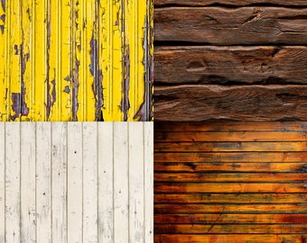 FREE EXPEDITED SHIPPING And Insurance ! Four 2ft x 2ft  Vinyl Photography Backdrops for Product Photos, Yellow, Brown,  and Cream FL28