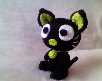Black cat crochet : crochet,cat,toy,animal,handmade,diy,yarn,conton,polyester