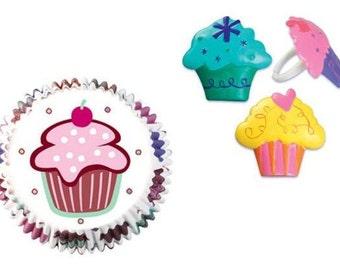 Cupcake Rings with Cupcake Baking Cups