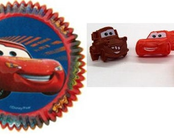Cars Rings with Cars Baking Cups
