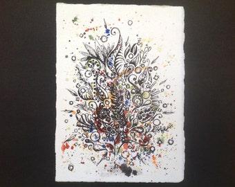 """Original - """"Taking Flight"""" Watercolor and Ink Artwork"""