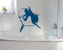 Unique dolphin wall decals related items etsy