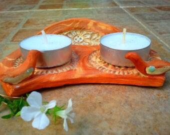 Shabbat candles holder jewish candles Ritual judaica art Mandala candle holder love birds jewish housewarming gift  free shipping in Israel!
