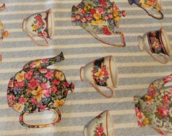 Daisy Kingdom #4076 Tea Parour  Fabric 2 7/8 yds