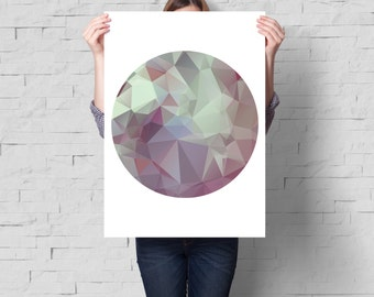 Geometric print, Geometric art, Minimalist art, Abstract print, Abstract wall art, Abstract art, Circle print, Modern art, Modern print