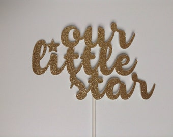 Our little star baby shower diva birthday cake topper