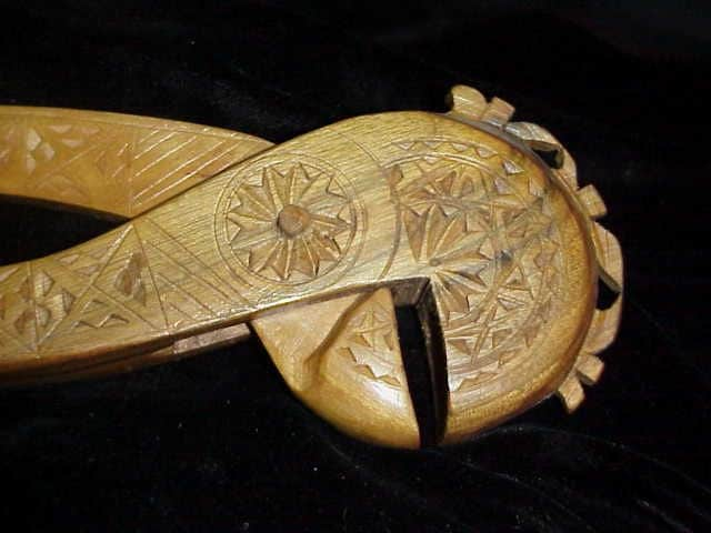 Scandinavian carved nut cracker antique norwegian nutcracker