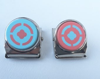 Blue and Coral Decorative Magnetic Clips