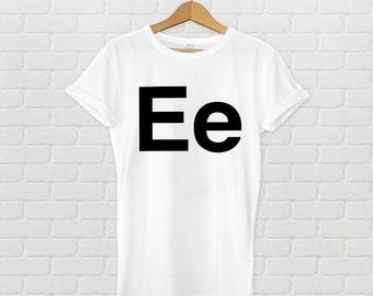 Ee Alphabet Helvetica Fashion T-shirt White