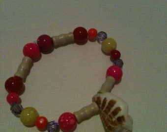 Glass shell braclet