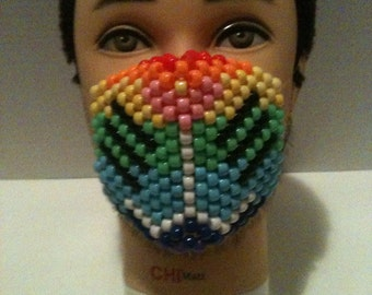 Rainbow cat mask