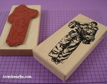 Pierrot Stamp / Invoke Arts Collage Rubber Stamps