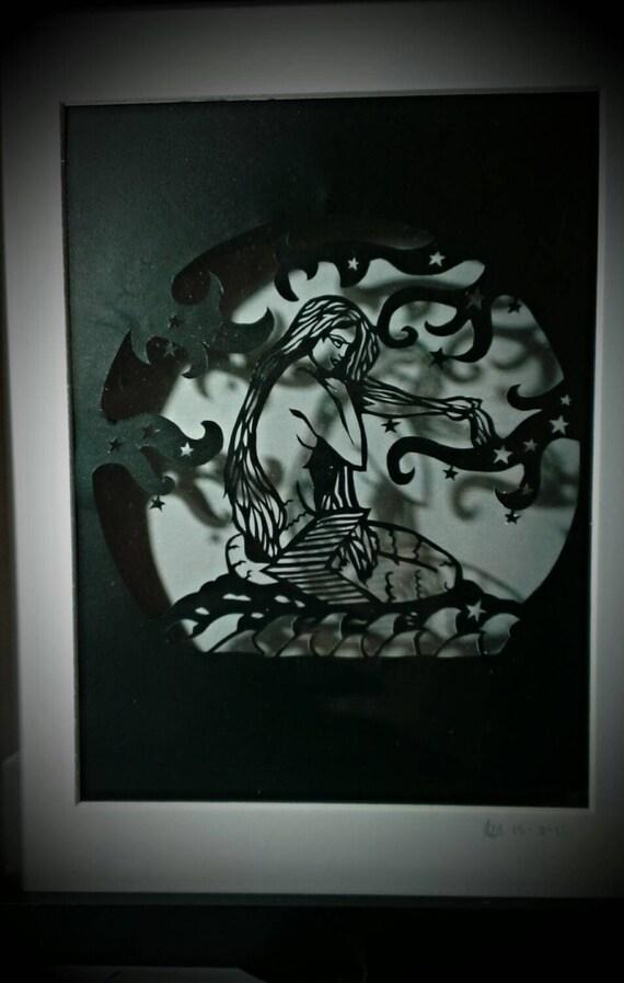 Basket Weaving Nuneaton : Mermaid personal use papercutting template pattern