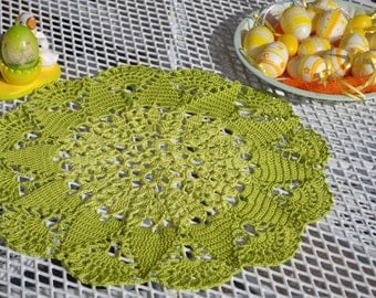 Sweet spring Doilies! Summer doily! Unique!