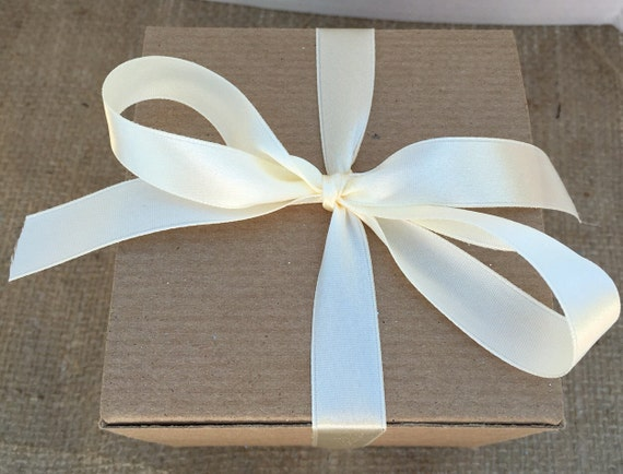 Ivory Ribbon Wedding Bow Decoration By The Yard Satin 5 8
