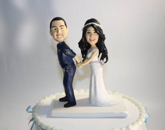 police officer wedding cake topper custom wedding cake by vivantopperstudio on etsy 18672