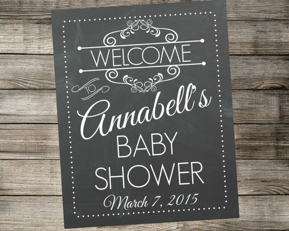 Personalized Baby Shower Welcome Sign By Mariesdigitaldesigns