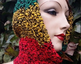6--Headwrap/Handmade/Cozy/Colors/Warm/Trendy/Winterfashion/Slouchy/Skiaccessory/Neckwarmer