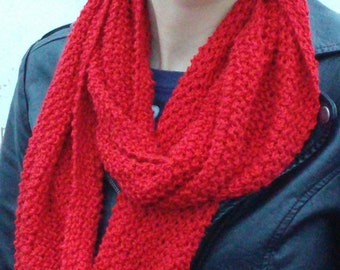 Red Cotton Infinity Scarf