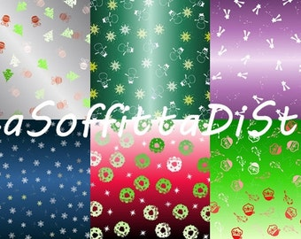 christmas digital paper digital collage scrapbooking cij christmas in july instant download cupcake wrappers decoupage red green blue purple