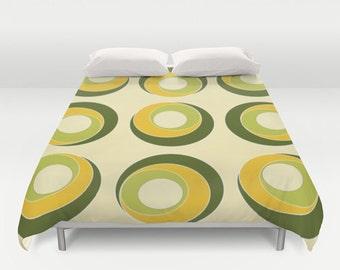 Green Duvet Cover, Green Comforter, Yellow Duvet, Olive Green, Lime Green Comforter Cover, King, Queen, Full, Bedding, Green Bedroom Decor