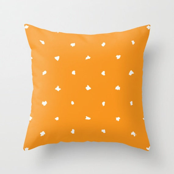 Orange Pillow Cover Outdoor Pillow Colorful by DesignbyJuliaBars