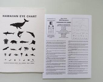 Unframed Hawaiian Eye Chart