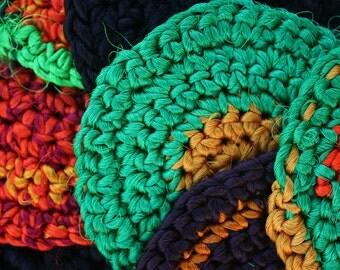 Recycled Silk Coaster Set
