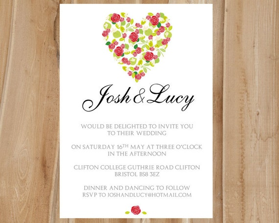 Modele Carte Invitation Mariage Word