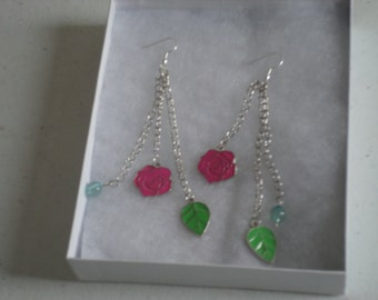 Spring Dangle Beaded Earrings
