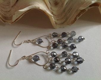 Quartz Earrings. Genuine Gemstones, Sterling Silver, Anniversary Gift