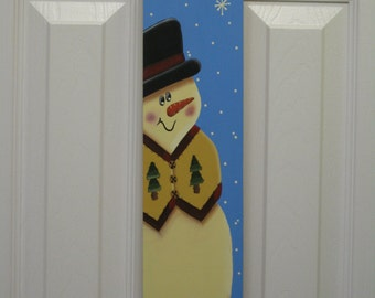 Hand-Painted Snowman Slim Sled