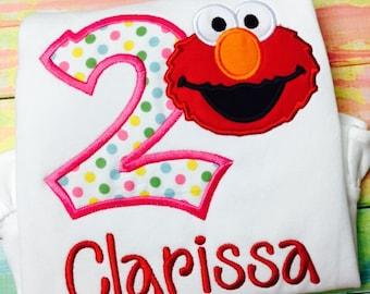 Elmo Birthday Shirt / Birthday/ Sesame Street/Personalized