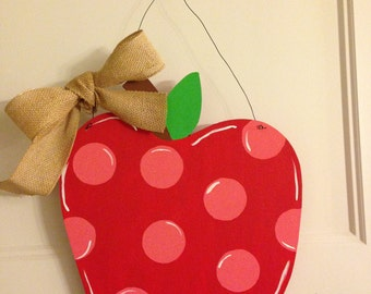Apple Wooden Door Hanger