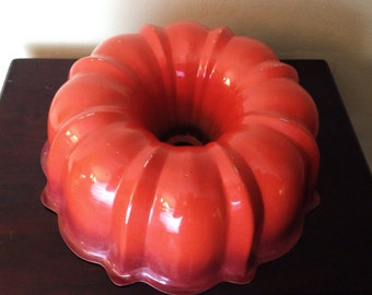 Orange Ombre Bundt Pan - 1960's to 1970's