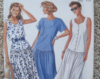 UNCUT Misses Dress - Size 8 to 20 - Simplicity Sewing Pattern 6533