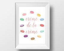 "Creme de la Creme Macaron/Macaroon Art Print - Digital Download 8x10"" - A sweet taste of France! - Decorate your home or office!"