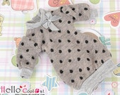 Blythe Pullip Puffed Sleeves Clothes /Dot with Bow