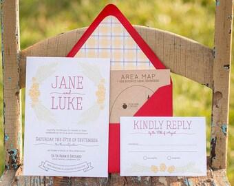 Craft Beer Wedding Invitaiton Suite - Hops - Customizable & Printable Design
