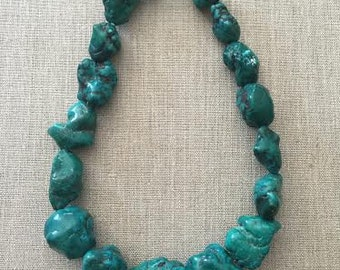 Blue Magnesite Statement Necklace
