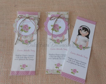 12 bookmarks first communion girl