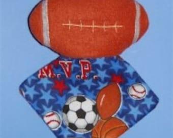 Football Minky Lovie Embroidery Machine Design for the 5x7 hoop