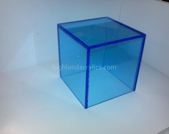 Fluorescent Color Acrylic Box with Hinged Lid