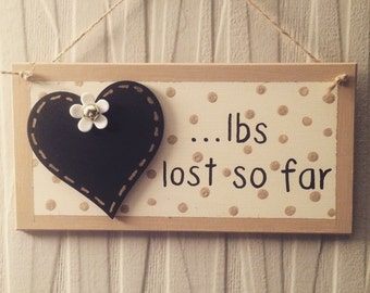 Weight loss chalkboard plaque